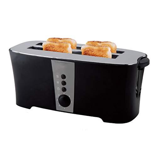 Xinjin 4-Scheiben-Breitschlitz-Toaster mit Edelstahl-Liner, Defrost/Bagel / Cancel-Funktion, 7 Browning Einstellung, 40 × 17.5 × 16.5CM