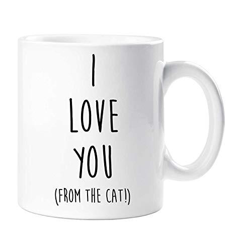 I Love You (à partir de le Chat) Tasse Saint Valentin Friend Anniversaire Noël Style Petit Ami Girlfriend Mari Femme Animal Domestic Cadeau