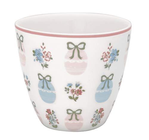 GreenGate - Tasse, Latte Cup - Elsie - White - Porzellan - 300 ml