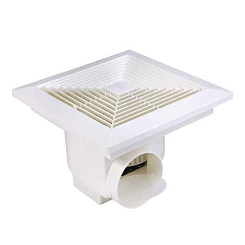 FENXIXI Ventilador de ventilación blanco cuadrado para techo o pared de montaje en techo muy silencioso ventilador de escape de baño