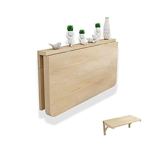 Mesa plegable para niños de pared,Madera de pino plegable flotante,Mesa plegable pequeña para banco de trabajo de garaje