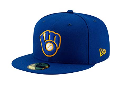 New Era Men's Milwaukee Brewers 59Fifty Alternate Royal Authentic Hat (7 1/8)