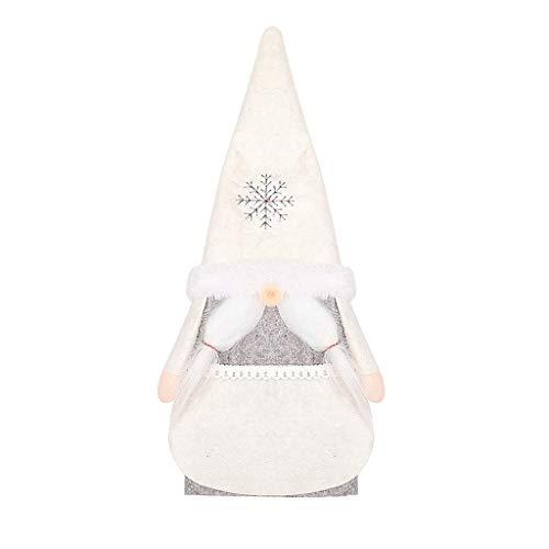 WanXingY Botella de Vino Decoración de Vino Bolsa, Ornamento de la Navidad de la muñeca del Vino Bolsa de Regalo Caja de Regalo (Color : C)