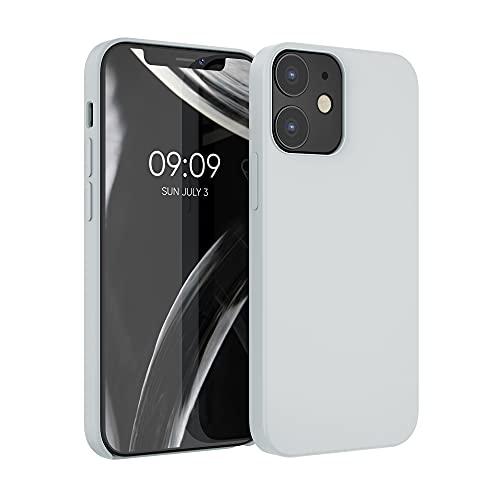 kwmobile Hülle kompatibel mit Apple iPhone 12/12 Pro - Hülle Handyhülle gummiert - Handy Hülle in Hellgrau matt
