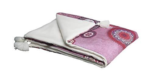 MoMika Premium Mandala Nouvelle 2 faces Velvet et couverture de bébé en coton I Belle Couverture pour bébé Velvet