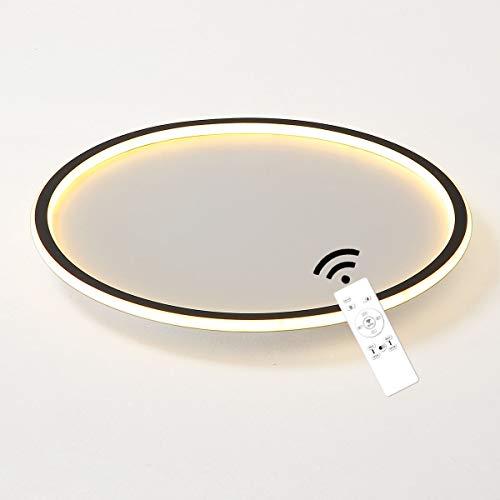 J.SUNUN LED lámpara de Techo Regulable,Incluye Remoto,Control de Color de Temperatura,función de luz Nocturna y Temporizador,Pegamento suave-aluminio,35W 2800LM Φ40CM,Para sala de estar, dormitorio