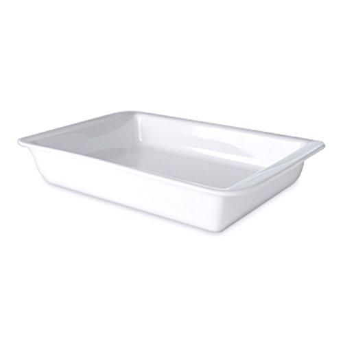 Berghoff Professionnel en Porcelaine vitrifiée rectangulaire Plaque à pâtisserie/Plat de Service, 38 cm, Blanc