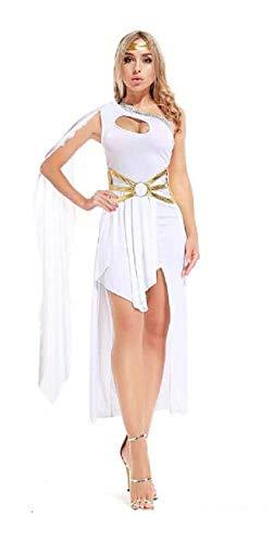 Lovelegis Disfraz de Diosa Griega Romana Sexy - Disfraz - Carnaval - Halloween - Cosplay - Accesorios - Mujer niña - Blanco - Talla única