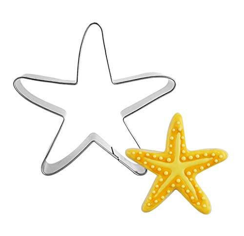 Ycake 2 pezzi stella di mare Tema del mare Formine per Biscotti Tagliabiscotti Acciaio Inox Stampi Biscotti per Bambini Decorazioni fai-da-te Dolci Biscotti Panino Taglierine della Torta Pasticceria
