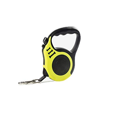 Lushi Automatic retractable dog leashes Heavy-duty automatic winding dog walking rope pet training leashes Easy one-touch brake and lock 3M/5M (blue/yellow/green/red)