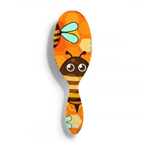 Cepillos para el cabello Honey Flower Heart Bee and Hive reducen el encrespamiento y masajean el cuero cabelludo peine aplicador de cepillo de color para el cabello cepillo desenredante óptimo y bril