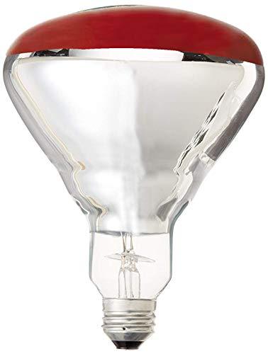 GE Lighting 37771 R40 Heat Lamp, Red, 250-Watt