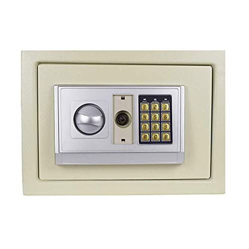 Caja fuerte a prueba de fuego e impermeable con combinación de dial Caja fuerte digital electrónica Caja de acero con teclado para proteger pasaportes de dinero para negocios en el hogar, hoteles
