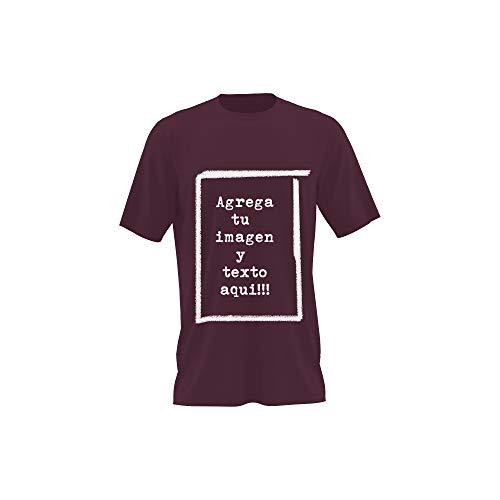 Detalles Creativos Camisetas Personalizables - T-Shirt Personalizadas .Tu Foto ó diseño en una Camiseta (Burgundy, S)