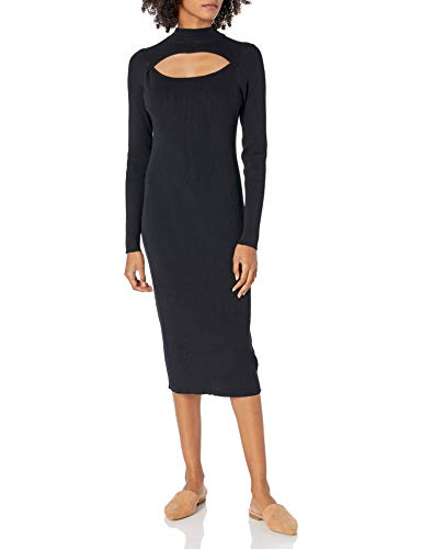 The Drop Women's Chantal Fitted Midi Bodycon Cutout Rib Dress