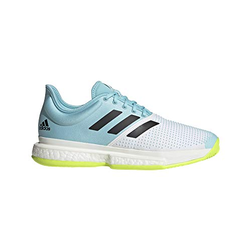 adidas SoleCourt M Primeblue, Zapatillas de Tenis Hombre, FTWBLA/NEGBÁS/Amasol, 43 1/3 EU 🔥