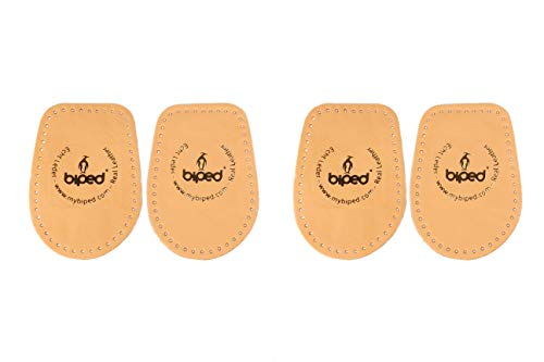 biped 2 Paar – Fersenkissen aus pflanzlich gegerbtem Leder – Fersenerhöhung für alle Schuhe - angenehm weiches Fersenpolster z2040(41-43)