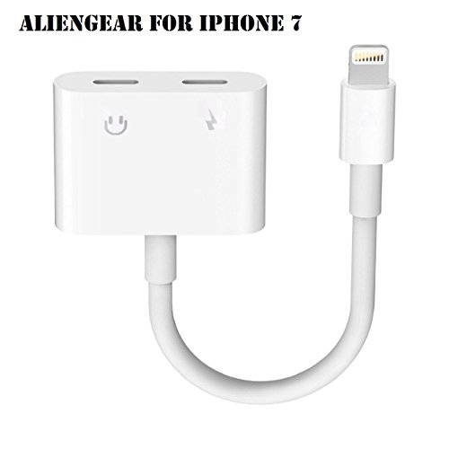iPhone 7 Adapter, iPhone 7 Converter, Dual Lightning Headphone Audio & Charge Adapter for iPhone 7 /