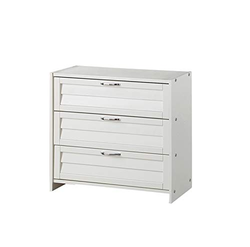 Donco Kids Louver 3 Drawer Chest, White