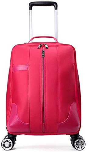 GQY Trolley travel bag hand luggage approved for cabin - Trolley Case (Color : Rouge, Size : Small(18))