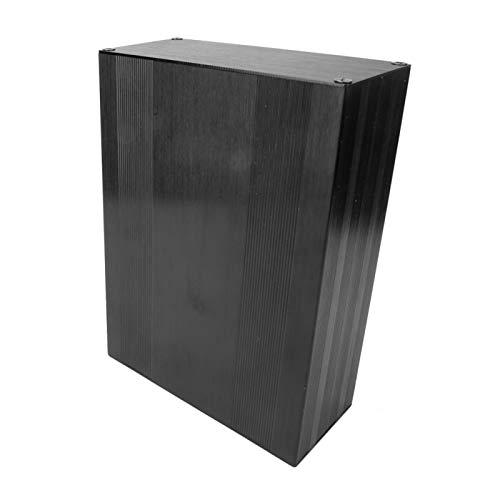DIY Heavy Duty Gabinete de grado industrial Caja electrónica Sandblasting Circuit Board Instrumento Aluminio Enfriamiento Caja Eléctrica para Amplificador GPS (longitud 200mm)