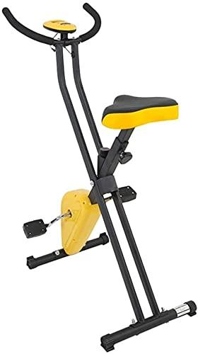 Eliptic Trainer Indoor Sport Fitness Attrezzature Casa Esercizio Bici Ciclismo Carico Bicicletta Ellittica Allenatore Allenamento Esercizio Macchina (Colore: Giallo Formato: Onesize)-Onesize_Yellow
