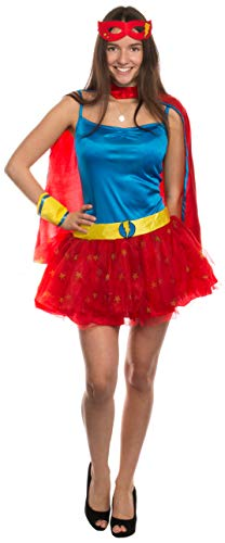 Brandsseller Damen Kostüm Superheldin Verkleidung Karneval Party Fasching Junggesellinnenabschied S/M