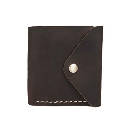 LIUYALE Portafoglio Uomo Premium Leather Wallet, RFID Block, Slim, Bi-Fold, Corto, Portafoglio Tasca Frontale Uomo Leggero (Color : Dark Brown)