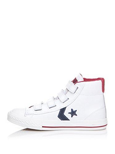 Converse Unisex - Kinderen Star Plyr 4V Mid Sneaker, wit, 34 EU