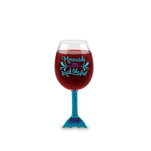 BigMouth Inc The Mermaid Tail Wine Glass