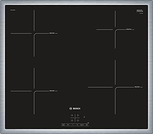 Bosch Serie 4 PUE645BB1E - Placa de inducción, 60 cm, 17 niveles de potencia, 3 zonas de cocción, Control táctil, Color negro