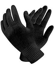 BO Unisex Reusable Washable Cotton Knitted Gloves Bundle (Black, Free Size) Pack of 20
