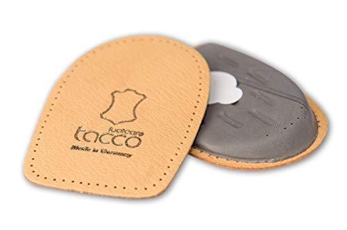 Tacco Footcare Fersenpolster Fersenkissen für Schuhe bei Bein Fehlstellungen – selbstklebendes Unisex orthopädisches Fersenpolster für Damen & Herren aus Leder (38-40 EUR)