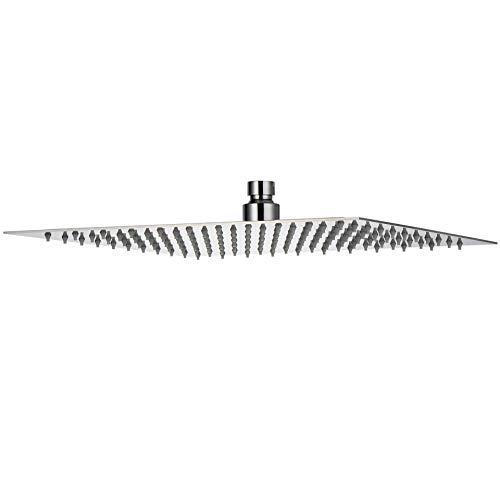 Roestvrij staal - regendouche vierkant 30 cm x 30 cm - 169 sproeiers regendouche douchekop wellnessdouche hoofddouche