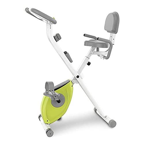 WASDY Entrenador de Bicicleta de Fitness, Bicicleta X-Bike, Entrenador Cardiovascular Ideal, Bicicleta estática Plegable para Interiores con Resistencia magnética/Asiento Ajustable/Pantalla LCD