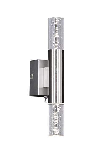 Fischer & Honsel Wandleuchte 2x LED 3W nickel matt Acrylgl.kl. H.30cm
