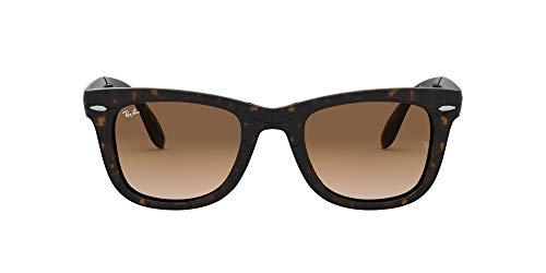 Ray-Ban Herren Folding Wayfarer Rb4105 C54 Sonnenbrille, Light Havana, 54