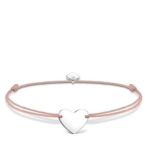 Thomas Sabo Damen-Armband Little Secret Herz 925 Sterling Silber Beige LS026-173-19-L20v