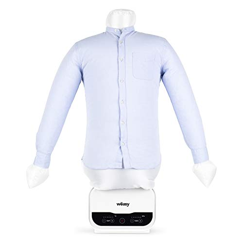 Wëasy Automatic Mannequin Magic Planchado, Secado y Planchado de Camisas y Linos IRO320, Práctica Compacta Rápida, 5 Niveles de Temperatura, Temporizador Programable, Todo Tipo de Tejidos