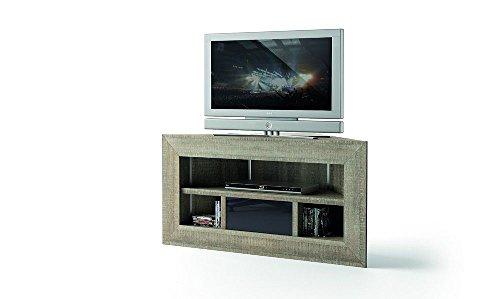 Destock Meubles Meuble TV d'angle chêne gris BROOKLYN