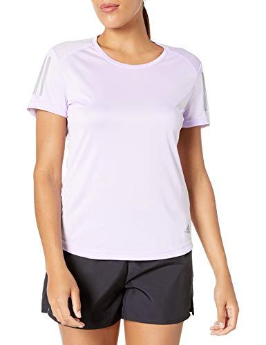 adidas Own the Run - Camiseta de running para mujer - FRQ07, playera de correr, 2X, Tinte morado.