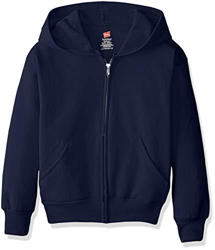 Hanes EcoSmart Fleece Full Zip Hooded Jacket, navy1, X LARGE