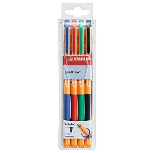 Tintenroller - STABILO pointVisco - 4er...