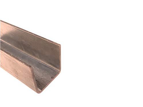 Perfil en U de acero galvanizado, 20 mm hasta 30 mm, perfil en U, ángulo en U, hasta 200 cm de longitud, 30x30x1,5mm 2000mm, 1