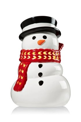 Bath & Body Works RED SCARF SNOWMAN luminary candle holder for 14.5 oz 3 wick candle or smaller