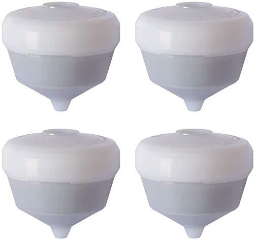 Siroflex - Juego de 4 cartuchos de repuesto UNI 3-A purificador de agua universal, purificador de agua para cocina, refinador de agua, para eliminar cloro con filtro de carbón activado.