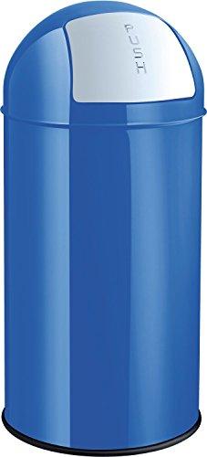 helit h2401434 en métal Poubelle 50 L Bleu