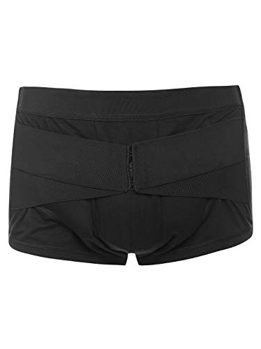 Lauftex Hernia Truss Underwear for Men (Black, M/Hips 37.8-39.4 inch)