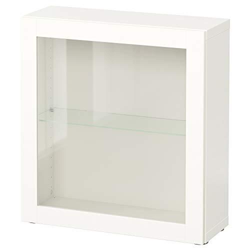 BESTÅ Estantería con puerta de cristal 60x20x64 cm Sindvik blanco