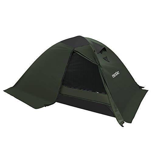 ESNBIA テント 2人用 4シーズンテント 軽量 コンパクト 二重層 スカート付き アウトドアテント キャンプ 登...
